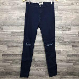 Boohoo Denim Ripped Skinny High Waist Jeans